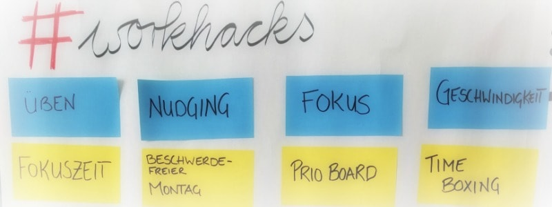 workhacks Klebezettel im Seminar