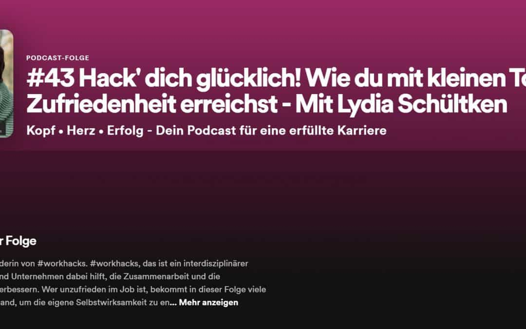 """""""Hack Dich glücklich"""": Lydia zu Gast im Podcast """"Kopf • Herz • Erfolg"""" von Jannike Stöhr"""